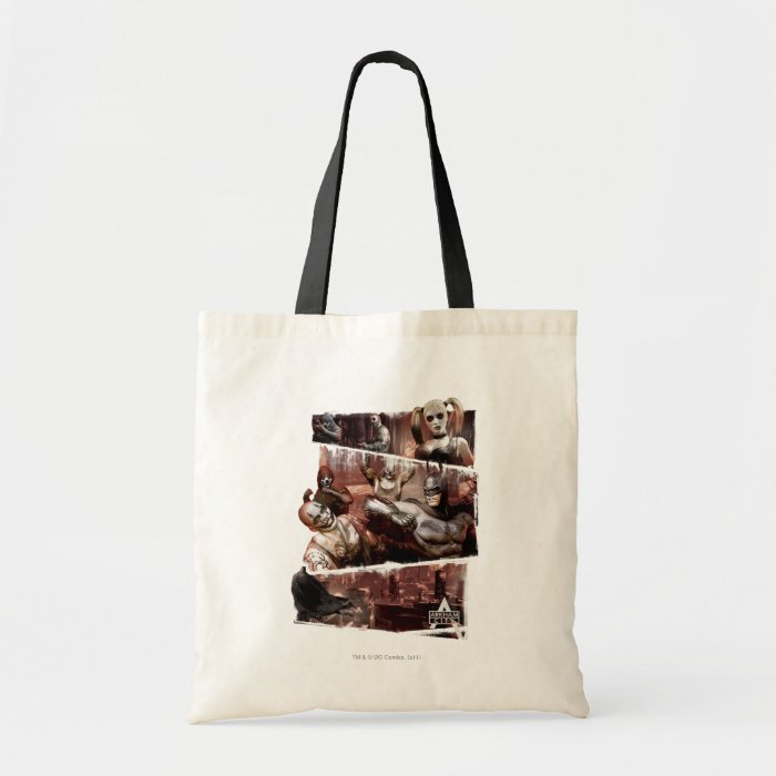 Arkham City Characters Trifold Tote Bag