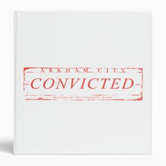 Arkham City Convicted Stamp Vinyl Binders