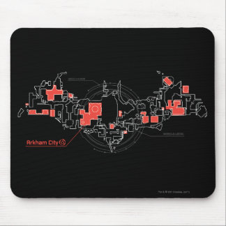 Arkham City Diagram Mouse Pad