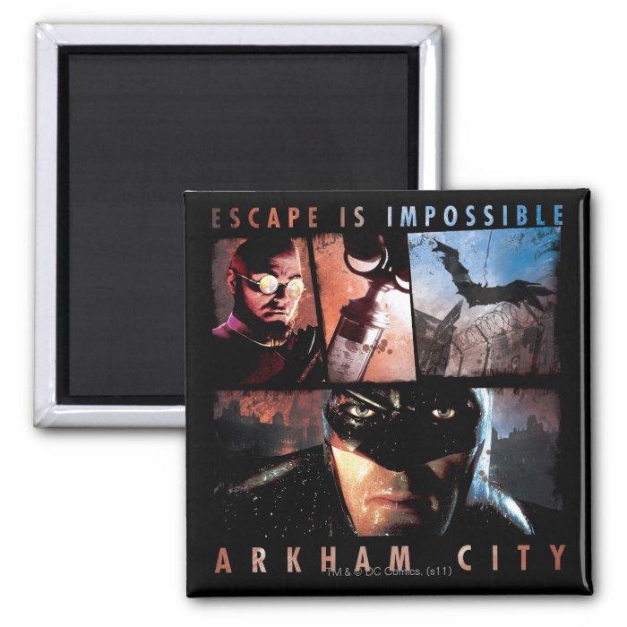 Arkham City Escape is Impossible 2 Inch Square Magnet