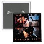 Arkham City Escape is Impossible 2 Inch Square Button