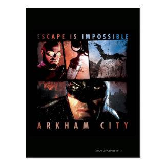 Arkham City Escape is Impossible Postcard
