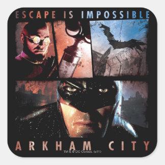 Arkham City Escape is Impossible Square Stickers