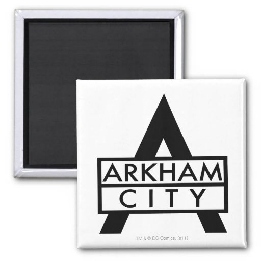 Arkham City Icon 2 Inch Square Magnet