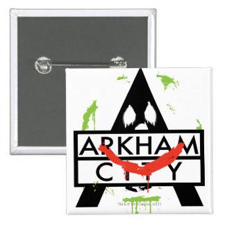 Arkham City Icon w/ Joker marks 2 Pinback Button