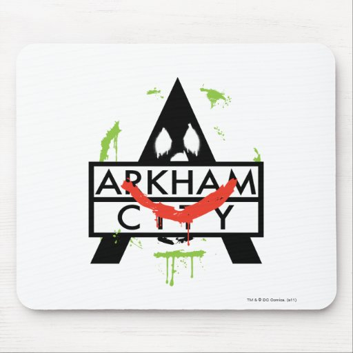 Arkham City Icon w/ Joker marks 2 Mouse Pad