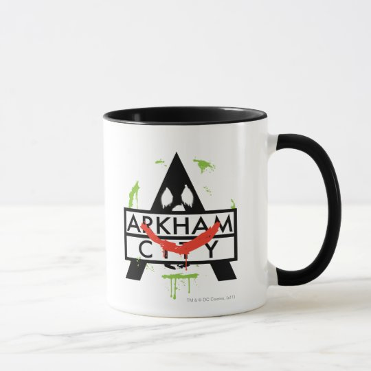 Arkham City Icon w/ Joker marks 2 Mug