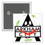 Arkham City Icon w/ Joker marks 2 Pinback Button