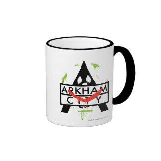 Arkham City Icon w/ Joker marks 2 Ringer Mug