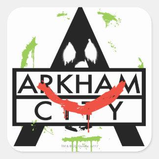 Arkham City Icon w/ Joker marks 2 Stickers