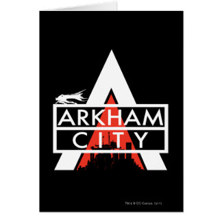 Arkham City Logo White Card