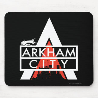 Arkham City Logo White Mouse Pad