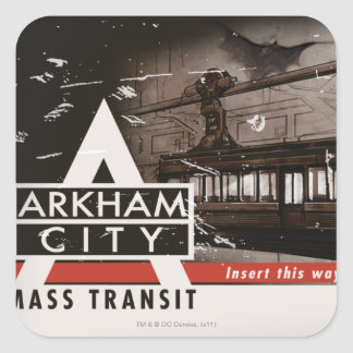 Arkham City Mass Transit Pass Square Sticker