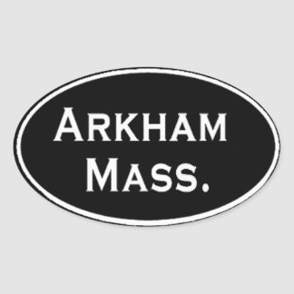 Arkham Mass. Oval Sticker