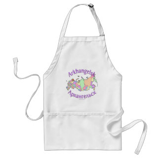 Arkhangelsk Russia Map Adult Apron