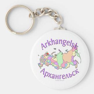 Arkhangelsk Russia Map Basic Round Button Keychain
