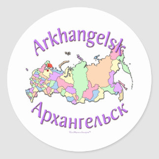 Arkhangelsk Russia Map Classic Round Sticker