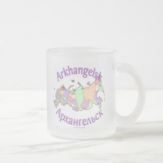 Arkhangelsk Russia Map Frosted Glass Coffee Mug