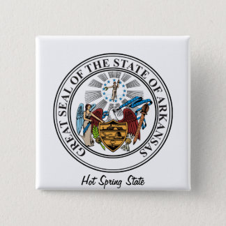 Arkinsas State Seal and Motto Pinback Button