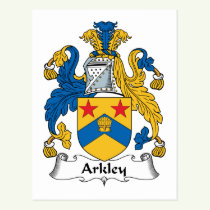 Arkley Family Crest Postcard