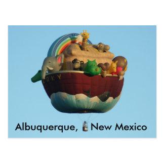 Arky Hot Air Balloon Postcard