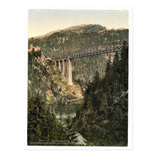 Arlberg Railway, Trisanna Viaduct and Castle Weisb Postcard