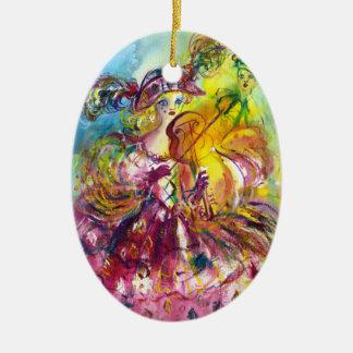 ARLECCHINA  VIOLINIST / Venetian Carnival Night Christmas Tree Ornaments