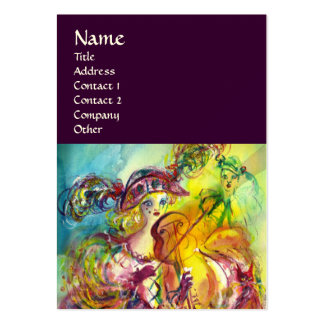ARLECCHINA VIOLINIST,Violin ,Music,Theater Artist, Large Business Cards (Pack Of 100)