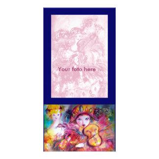 ARLECCHINO AND COLOMBINA PHOTO GREETING CARD