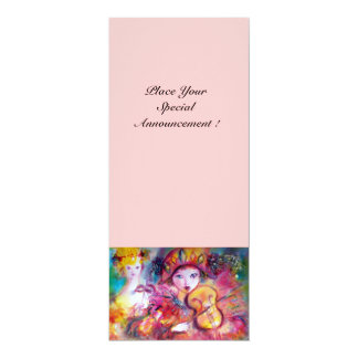 ARLECCHINO AND COLOMBINA /Venetian Mardi Gras Card