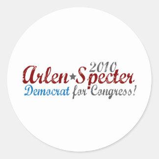 Arlen Specter 2010 Demócrata Etiqueta