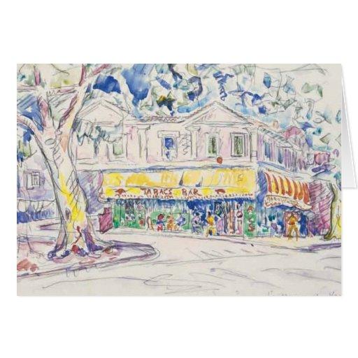 arles 1933 del de Van Gogh del maison del signac d Tarjeta De Felicitación