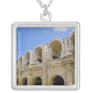 Arles, France, Exterior of the Arles antique 2 Silver Plated Necklace