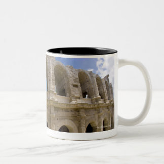Arles, France, Exterior of the Arles antique 3 Two-Tone Coffee Mug