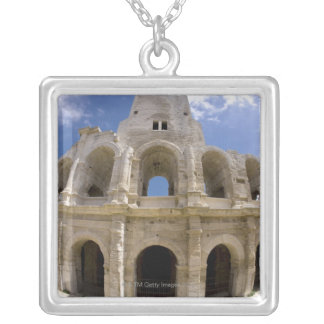 Arles, France, Exterior of the Arles antique 3 Silver Plated Necklace