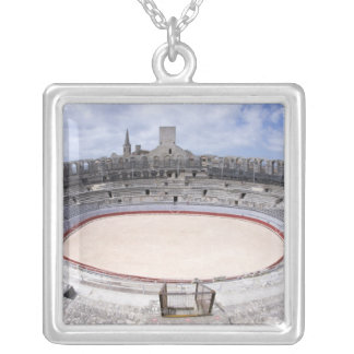 Arles, France, Exterior of the Arles antique 4 Silver Plated Necklace