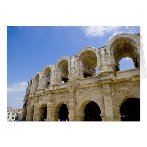 Arles, Francia, exterior de la antigüedad 2 de Arl Tarjeton