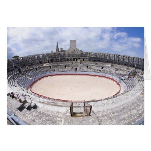 Arles, Francia, exterior de la antigüedad 4 de Arl Felicitacion