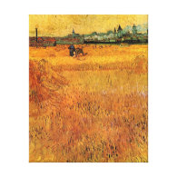 Arles View from the Wheat Fields. Vincent van Gogh Gallery Wrap Canvas