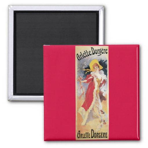 Arlette Dorgere, 1904 Art Nouveau Fridge Magnets