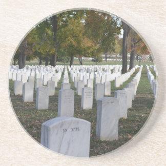 Arlington Cemetery Fall 2013 Headstones Drink Coaster