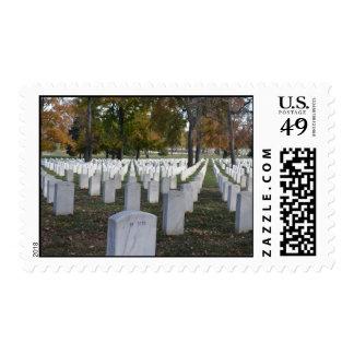Arlington Cemetery Fall 2013 Headstones Postage Stamp