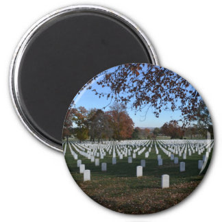 Arlington Cemetery Headstones in Lines Fall 2013 2 Inch Round Magnet