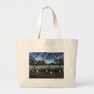 Arlington Cemetery Headstones in Lines Fall 2013 Jumbo Tote Bag