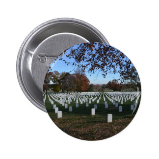 Arlington Cemetery Headstones in Lines Fall 2013 Button