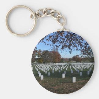 Arlington Cemetery Headstones in Lines Fall 2013 Key Chain
