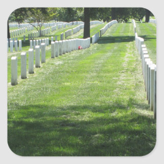 Arlington Cemetery Square Sticker