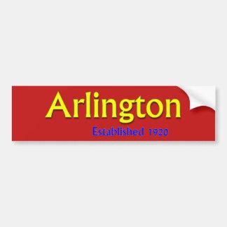 Arlington Established Vehicle Bumper Sticker