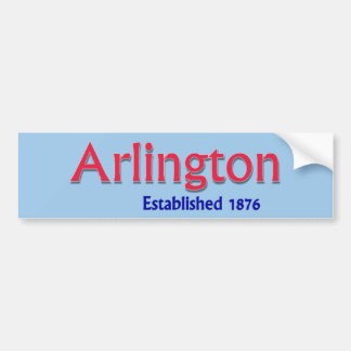Arlington Established Vehicle Bumper Sticker
