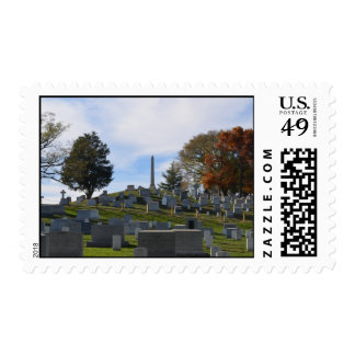 Arlington Fall, Obelisk on top of the hill Postage Stamps